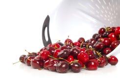 свеже помытые вишни Бинга Стоковые Изображения
