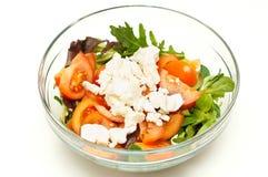 свеже сделанный салат стоковые изображения