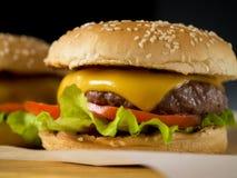 2 свеже сделанных бургера Стоковое фото RF