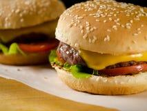 2 свеже сделанных бургера Стоковые Фото
