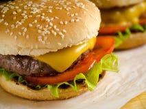 2 свеже сделанных бургера Стоковое Изображение RF