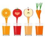 Свеже сжиманный сок в стекле Здоровый уклад жизни иллюстрация штока