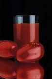 свеже томат сжатый соком Стоковая Фотография RF