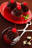 Свежие булочки шоколада с сливк шоколада Стоковые Фото