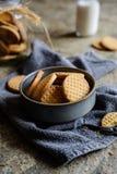 Свежие ванильные печенья масла Стоковая Фотография