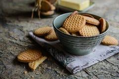 Свежие ванильные печенья масла Стоковые Фото