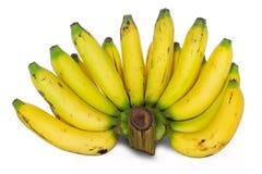 Свежие все бананы белизна изолированная предпосылкой Стоковая Фотография