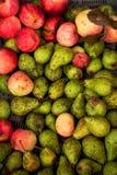 Свежие груши и яблоки в коробке Стоковые Изображения RF