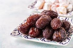 Свежие даты Medjool kareem ramadan Стоковое Изображение RF