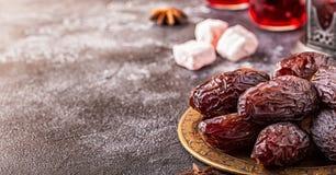 Свежие даты Medjool kareem ramadan Стоковые Фото
