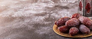 Свежие даты Medjool kareem ramadan стоковое фото rf
