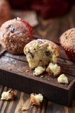Свежие домодельные очень вкусные булочки с изюминками Стоковая Фотография RF