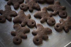 Свежие домодельные печенья пряника шоколада Стоковые Изображения