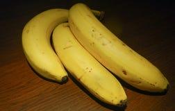 Свежие желтые зрелые бананы вполне сахара Стоковое Фото