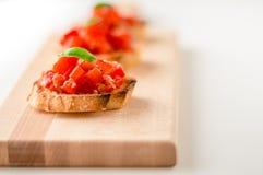 Свежие закуски bruschetta Стоковая Фотография RF