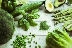 свежие зеленые овощи Стоковые Фотографии RF