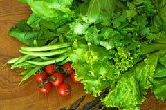 Свежие зеленые органические овощи Стоковое Изображение