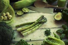 Свежие зеленые veggies Стоковые Изображения RF