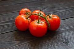 свежие зрелые томаты Стоковые Фото