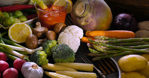 Свежие, здоровые, органические овощи Стоковые Изображения RF