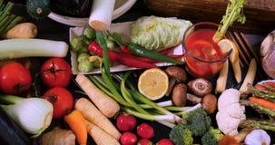 Свежие, здоровые, органические овощи Стоковые Фотографии RF