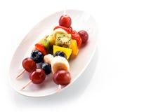 Свежие здоровые kebabs тропического плодоовощ Стоковое Изображение