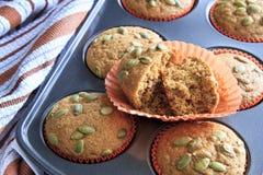 Свежие испеченные булочки тыквы Стоковое Изображение RF