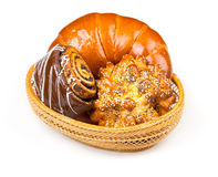 Свежие и вкусные плюшки с с сезамом и маковыми семененами, острословием бейгл Стоковая Фотография