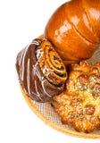 Свежие и вкусные плюшки с с сезамом и маковыми семененами, острословием бейгл Стоковое Изображение