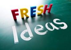 Свежие идеи, слова принципиальной схемы Стоковые Изображения RF