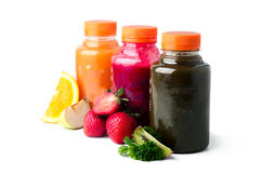 Свежие и здоровые соки плодоовощ vegetable Стоковое Фото