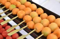 Свежие и сладостные шарики cantaloup стоковое изображение