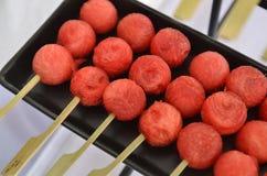 Свежие и сладостные шарики watermalon стоковые фото