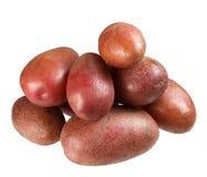 Свежие картошки на белой предпосылке Стоковые Изображения