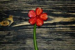 Свежие клубники в форме цветка стоковое изображение rf