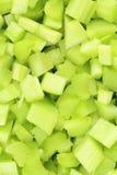 Свежие, который слезли и cutted лист ревеня преследуют текстуру предпосылки еды Стоковые Фото