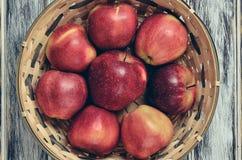 Свежие красные яблоки стоковые изображения
