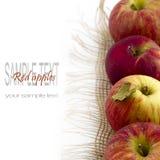 Свежие красные яблоки стоковое фото