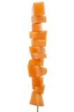 Свежие кубики дыни стоковая фотография rf