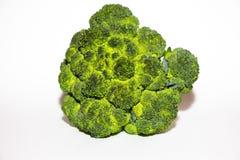 Свежие лож капусты брокколи на белой предпосылке Оно только скомплектовано от сада и готова к использованию стоковая фотография rf