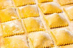 Свежие макаронные изделия Agnolotti Стоковое фото RF