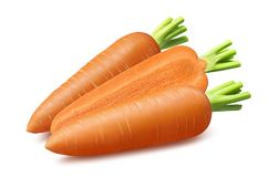 Свежие моркови изолированные на белой предпосылке стоковая фотография
