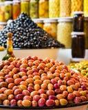 Свежие морокканские оливки Стоковая Фотография