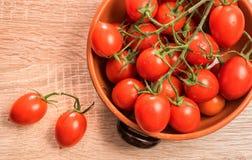 Свежие овальные томаты готовые для соуса Стоковая Фотография RF
