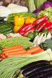 Свежие овощи в рынке Стоковое Фото