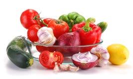 Свежие овощи изолированные на белизне Стоковое Изображение RF