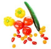 Свежие овощи изолированные на белой предпосылке Стоковые Изображения RF