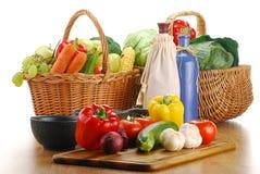 свежие овощи кухонного стол стола Стоковые Изображения