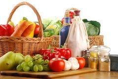 свежие овощи кухонного стол стола Стоковая Фотография