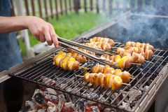 Свежие овощи на барбекю Стоковое Фото